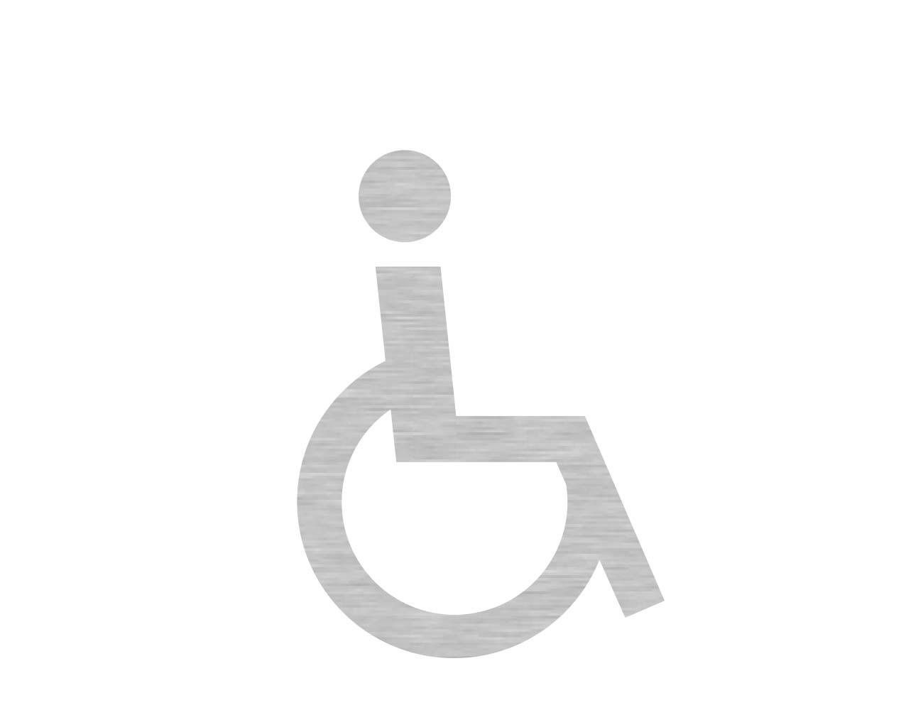 WC Piktogramme - Variante 1  - Rollstuhl