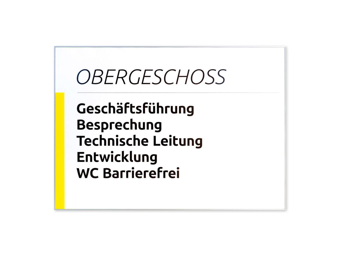 Infoschild FORMOflach