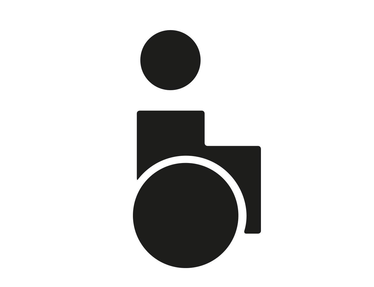 WC Piktogramm Acrylglas Rollstuhl
