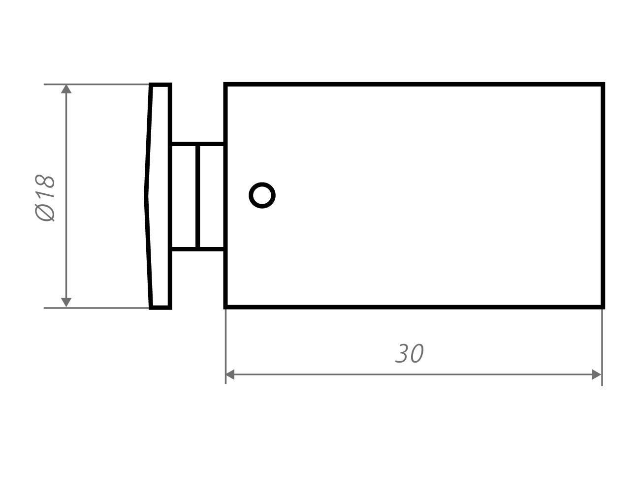 Zeichnung Wandhalter w18.30
