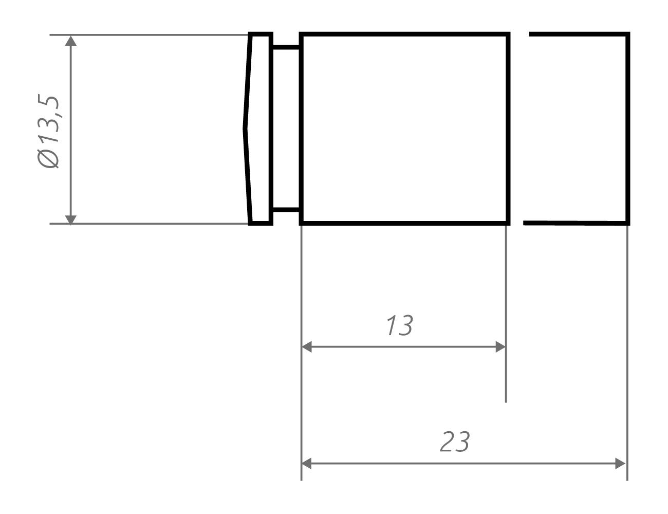 Zeichnung Wandhalter li13.13, li13.23