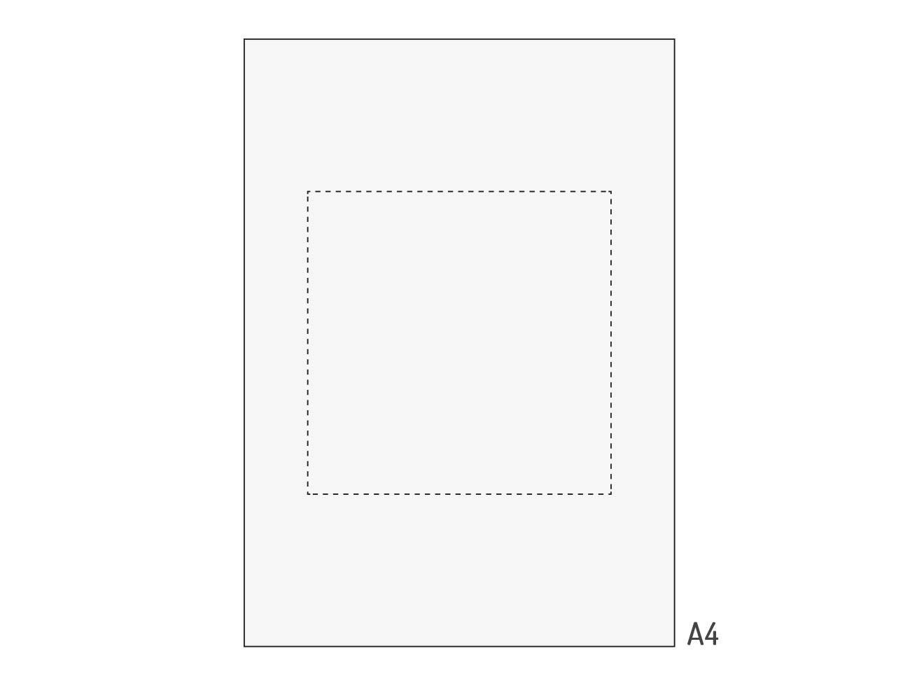 Perforiertes Transparentpapier A4