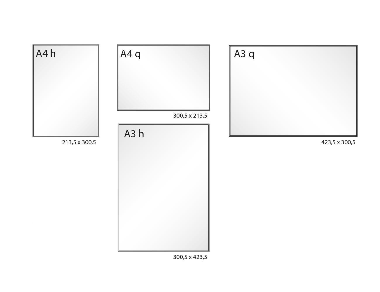 Infoschild FORMOflach Varianten