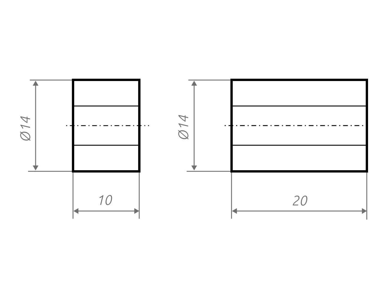 Zeichnung Distanzscheiben z14.10, z14.20