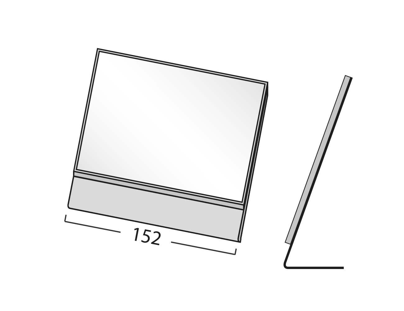 """FORMOflach """"Tischaufsteller"""" 152 x 108,5 mm (BxH)_silber E6/EV1"""