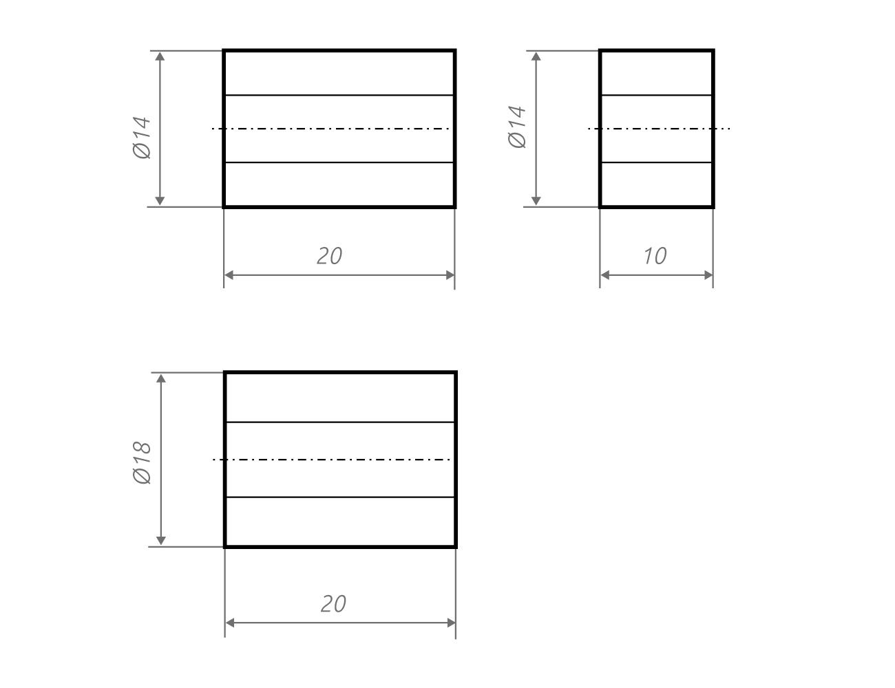 Zeichnung Distanzscheiben z18.10, z18.20