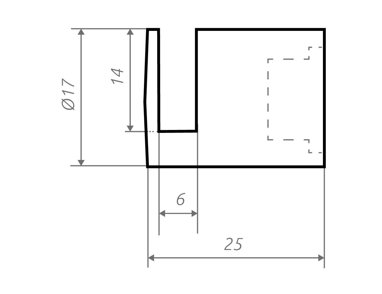 Zeichnung Schildhalter ow17