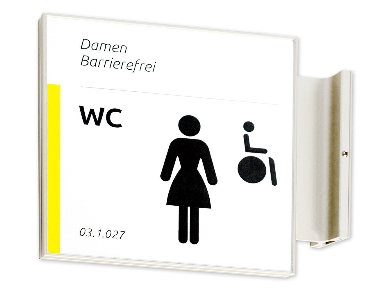 Fahnenschild FORMOflach - WC Schild