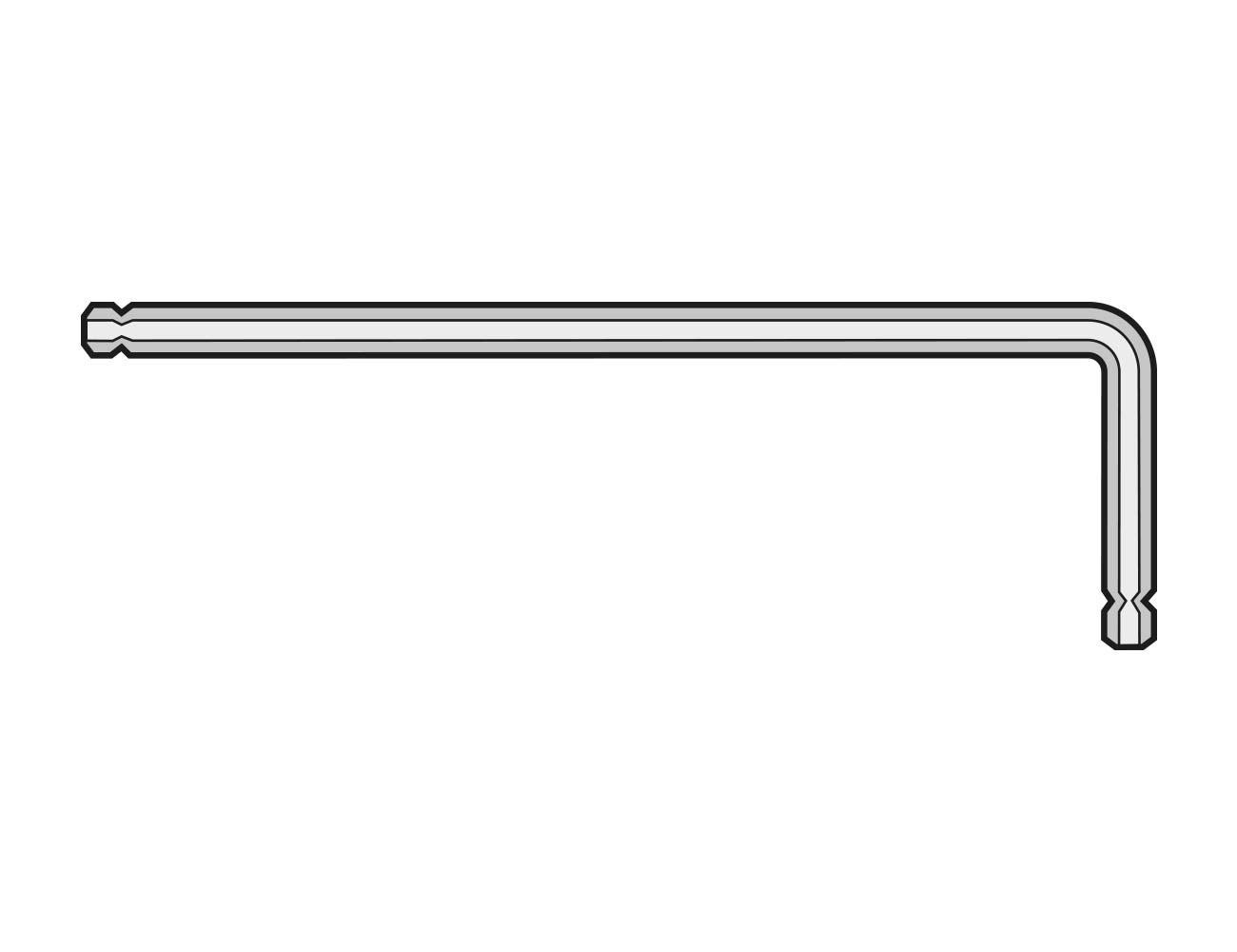 Kugelkopf -Sechskantschraubendreher 2 mm