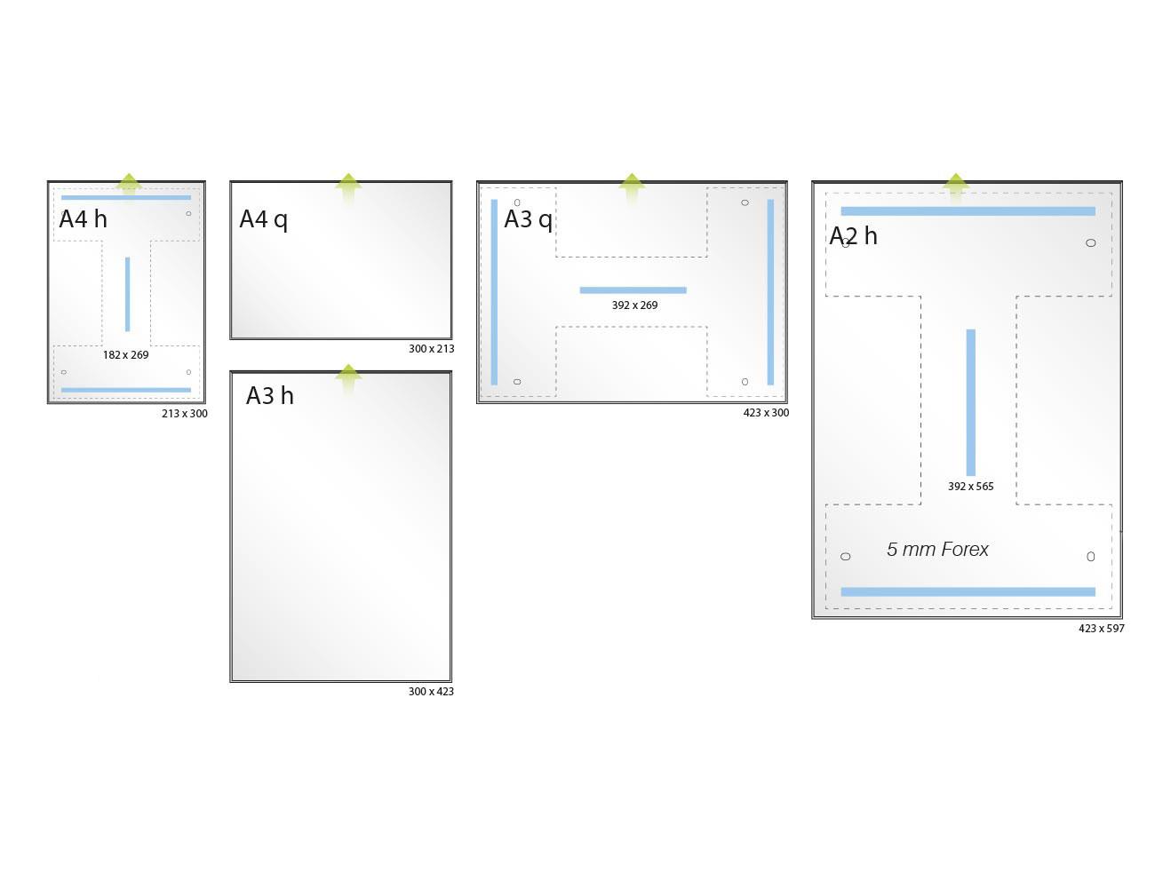 Infoschild FORMOeinschub - Varianten