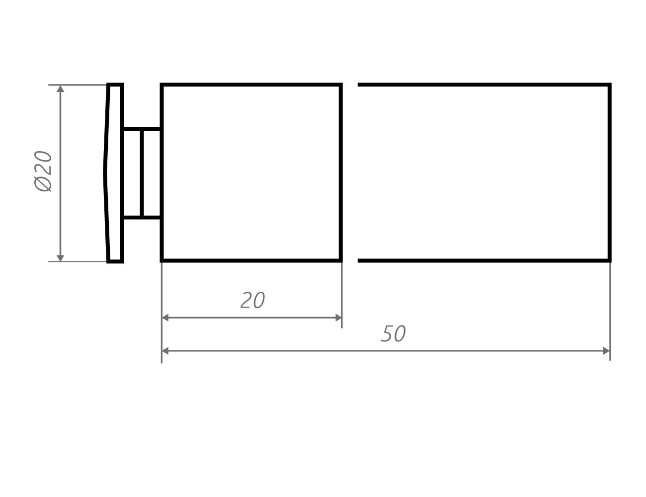 Zeichnung Wandhalter li20.20, li20.50
