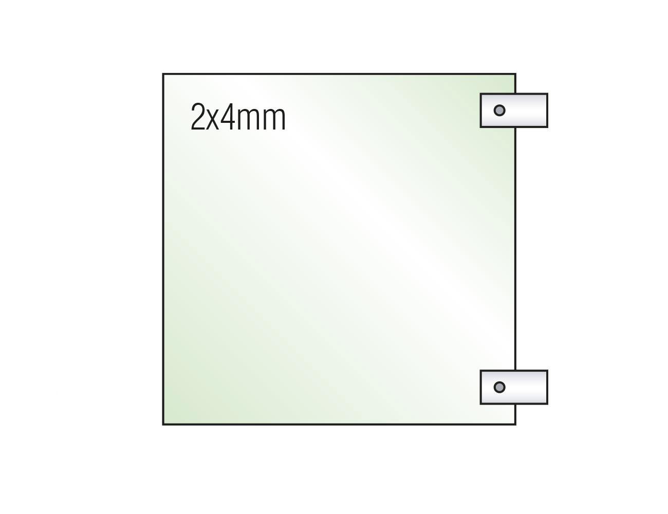 Fahnenschild INOXO.in Glas