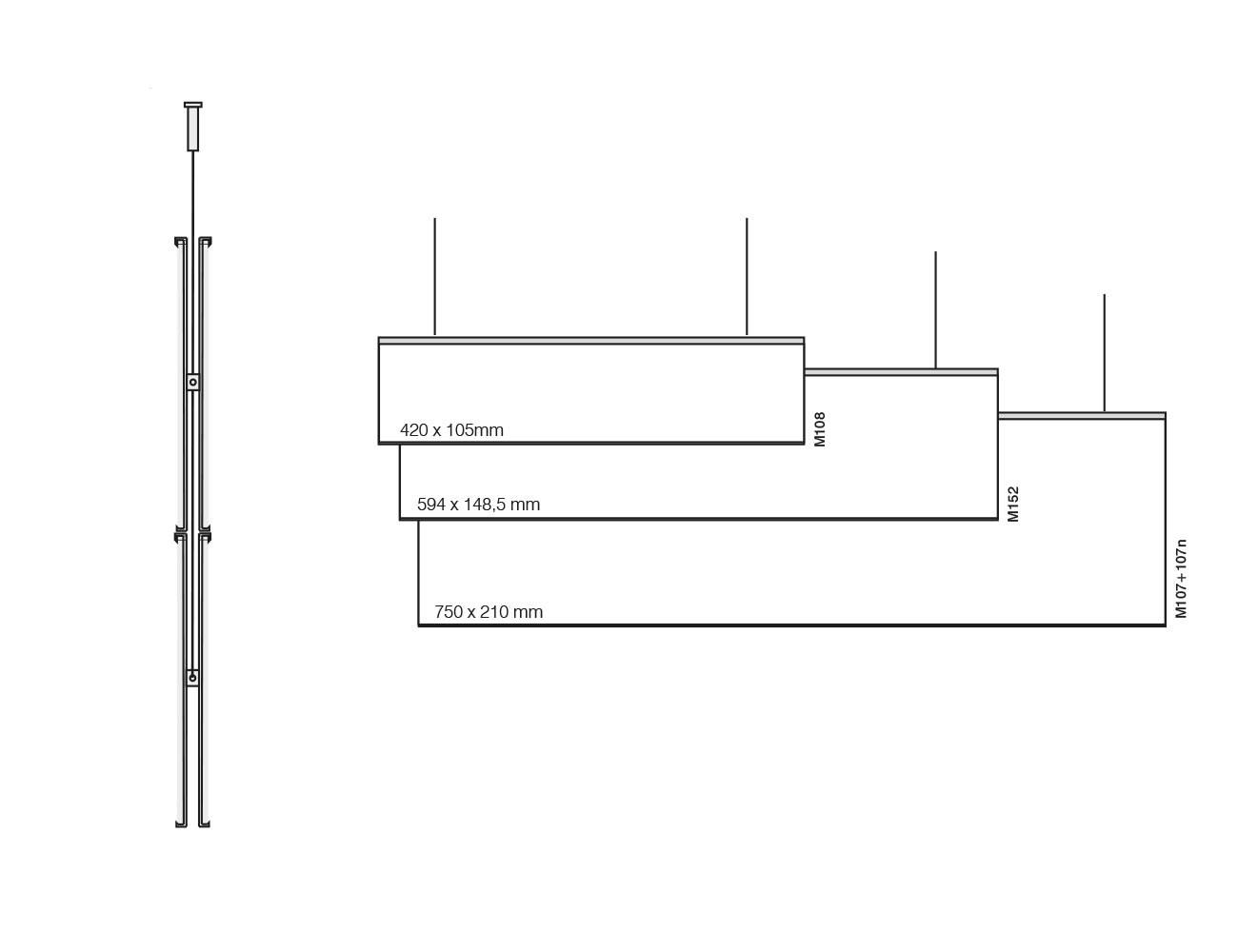 Hängeschild MODO - beidseitig - Varianten