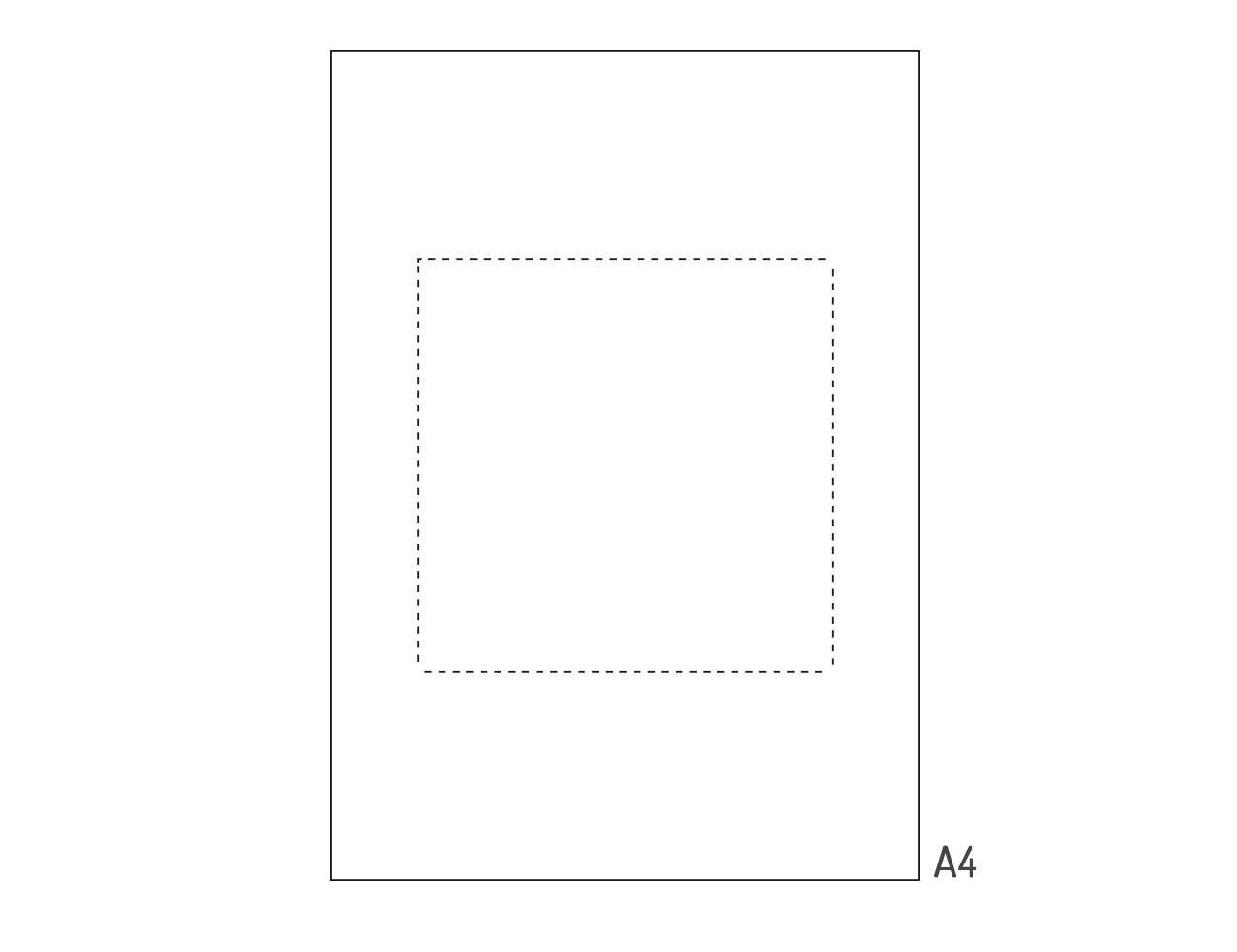 Perforiertes Papier weiß A4 - 20 Stk.