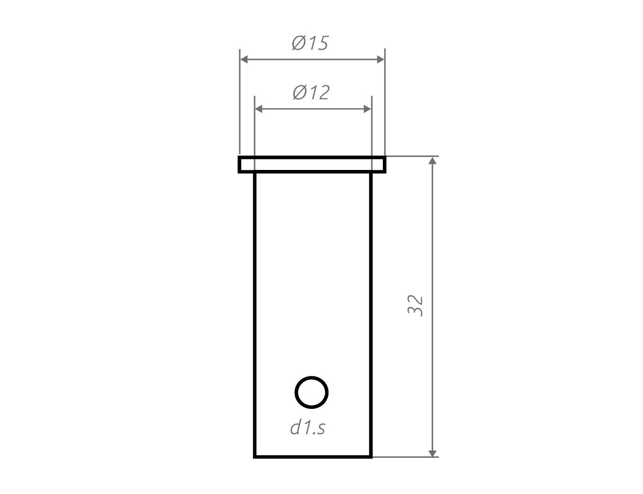 Zeichnung Deckenhalter d1.s