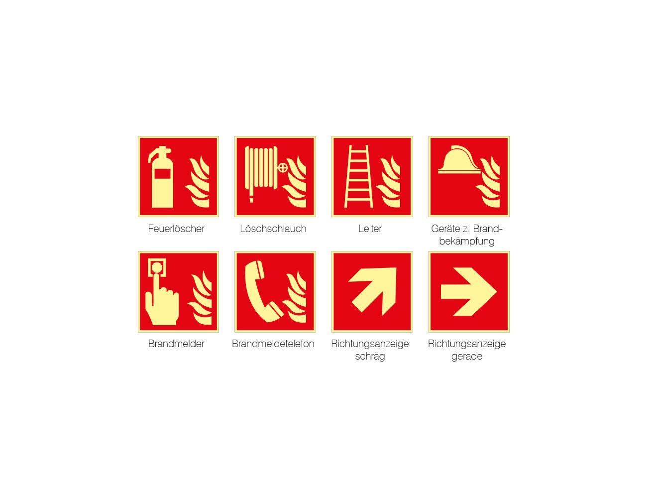 Brandschutzkennzeichen Folie nachleuchtend