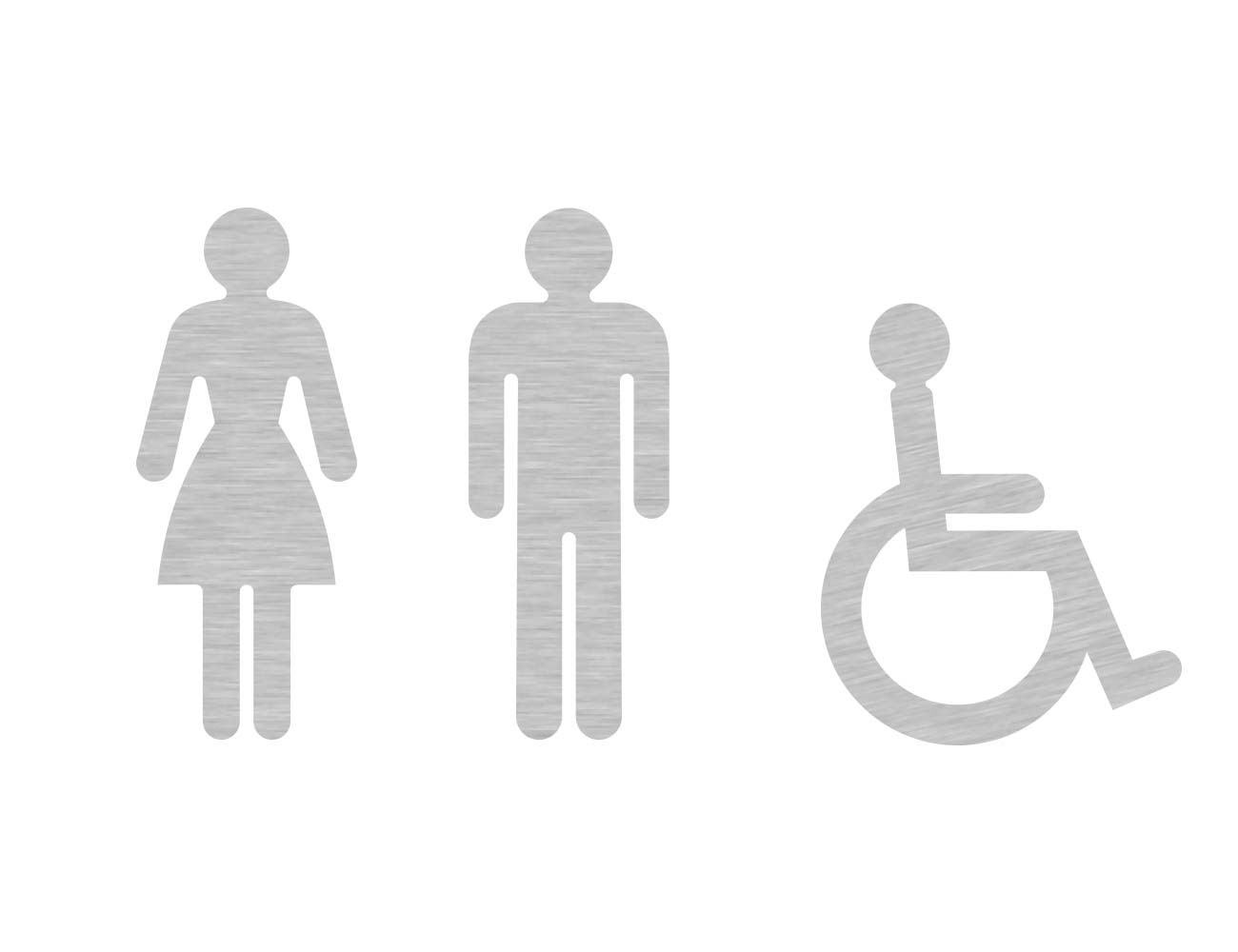 WC Piktogramme - Variante 2 - Dame/Herr/Rollstuhl