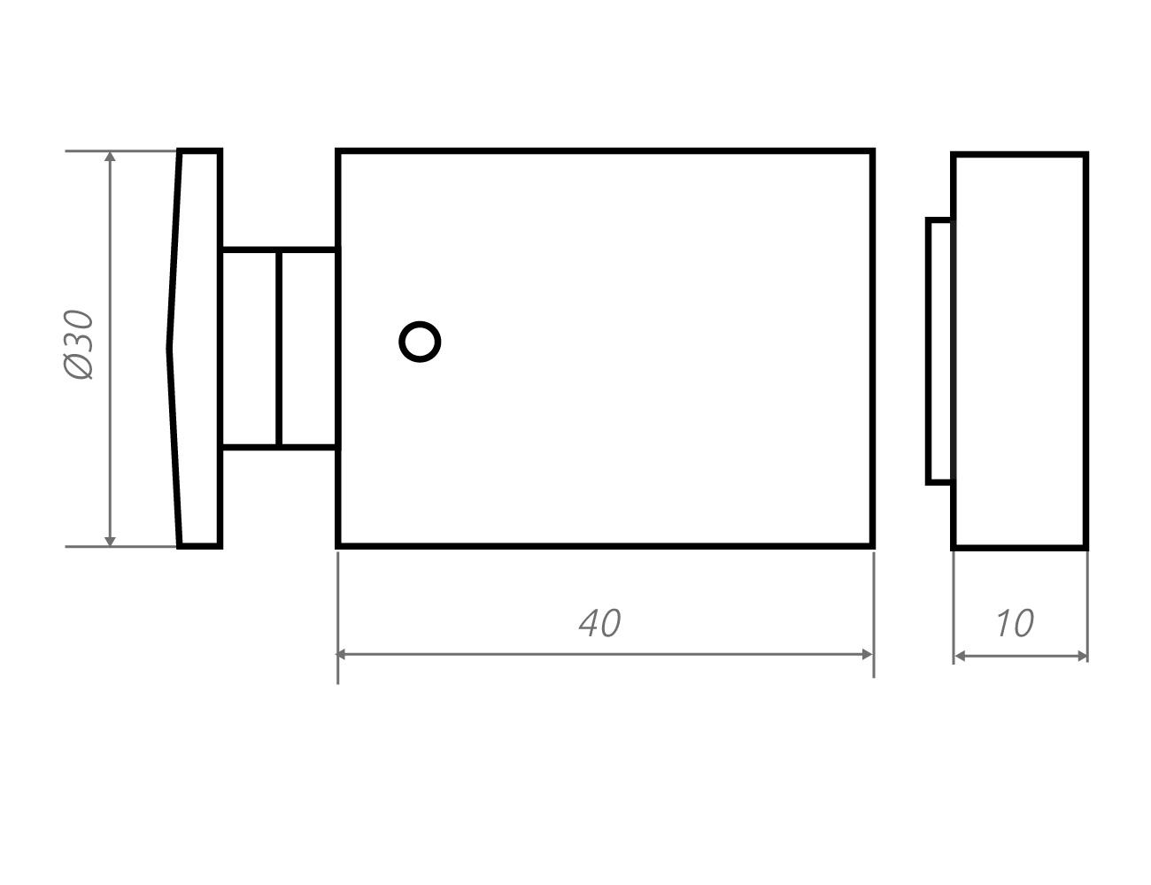 Zeichnung Wandhalter 30.40.8-20