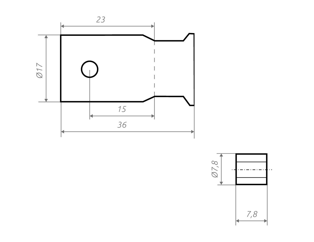 Grafik Fahnenhalter fz,z8.8