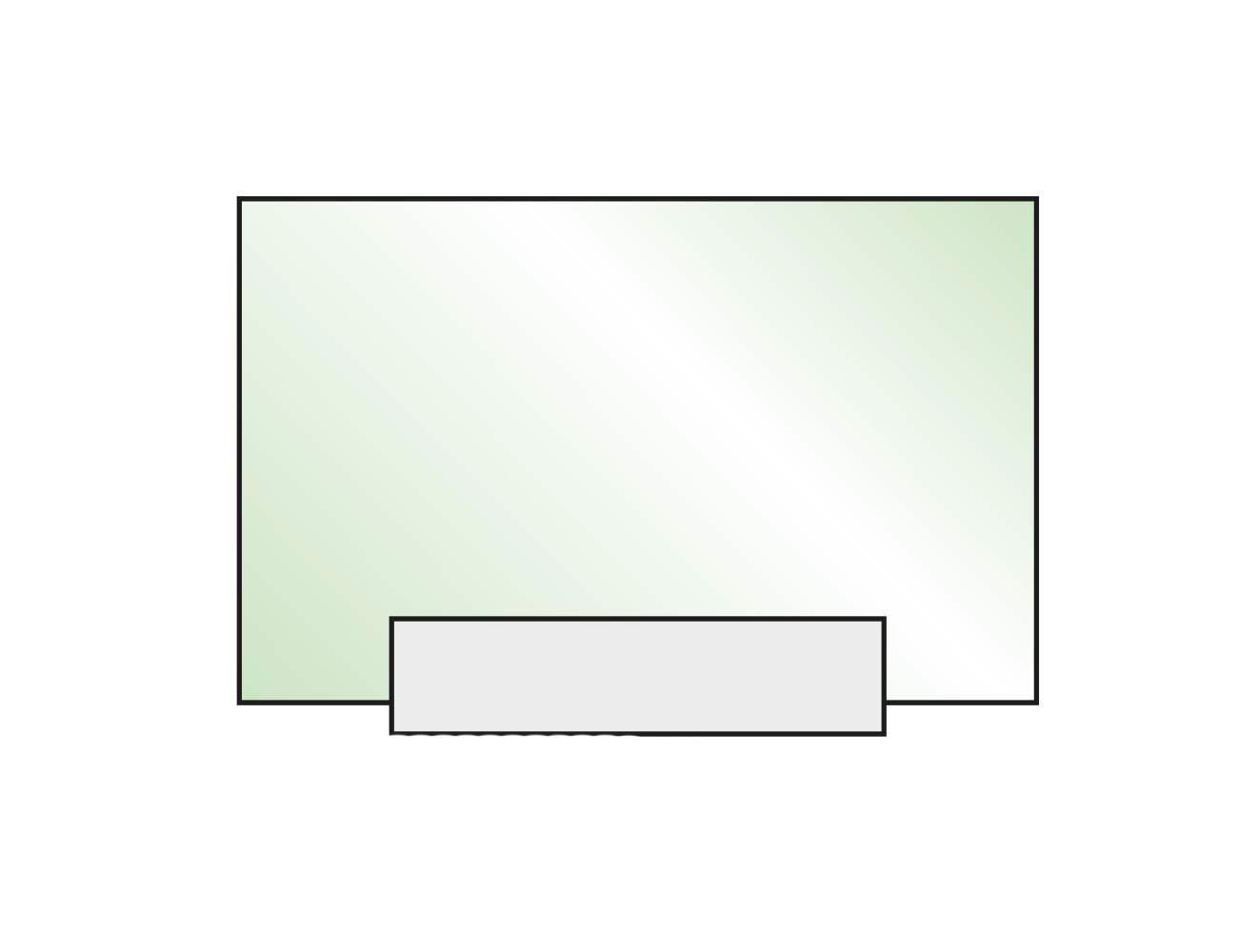 Tischaufsteller Kristallino.kurz Frontansicht