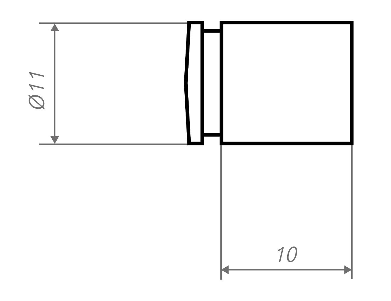 Zeichnung Wandhalter li11-10